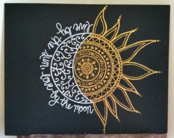 11x14 Painted Henna Inspired Canvas by StyleCanvas on Etsy