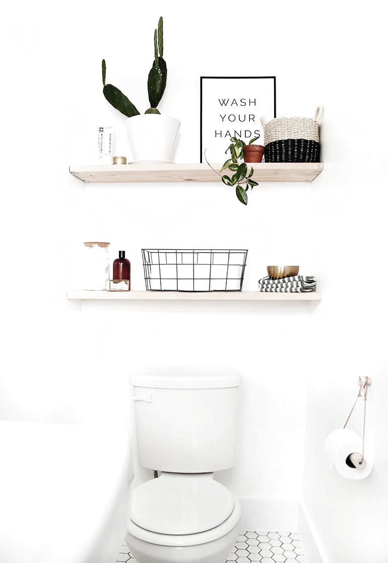 Pin Von Andrea Baumgartner Auf New Appartment In 2020 Moderne Regale Holzregale Badezimmer Regal