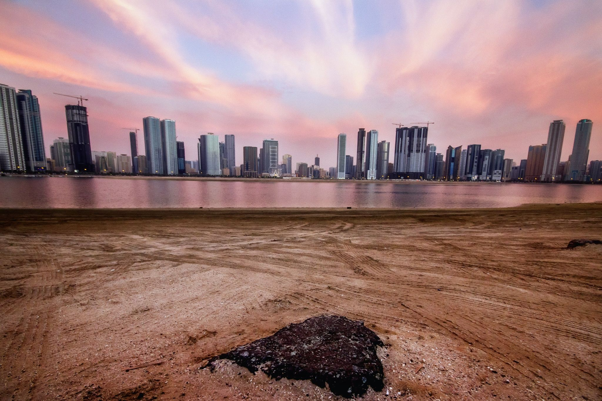 Sunset at beach by Mohamed Azzuni on 500px