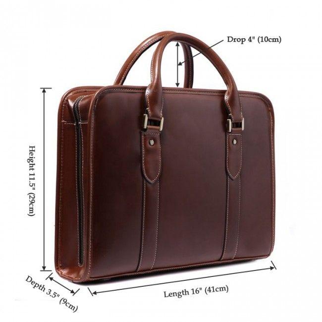 7175x 100 Real Leather Men S Brown Briefcase Handbag Shoulder Laptop Bag