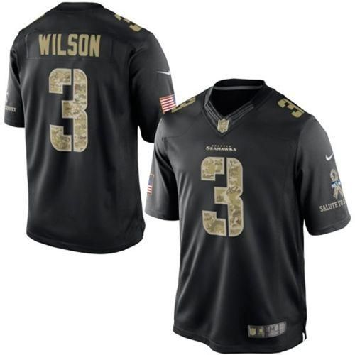 Nike Seahawks  3 Russell Wilson Black Men s Stitched NFL Limited Salute to Service  Jersey 1012824cc