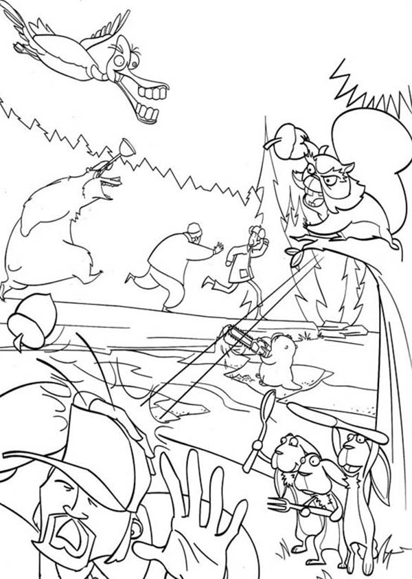 The Hunter Running Away In Open Season Coloring Pages Bulk Color Coloring Pages Open Season Online Coloring