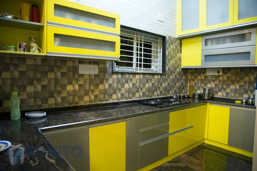 We designed this modular kitchen for a client\'s gorgeous villa in ...