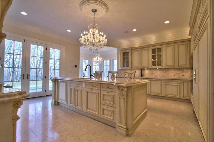 Cool antique kitchen cabinets in 2020   Cream kitchen ...