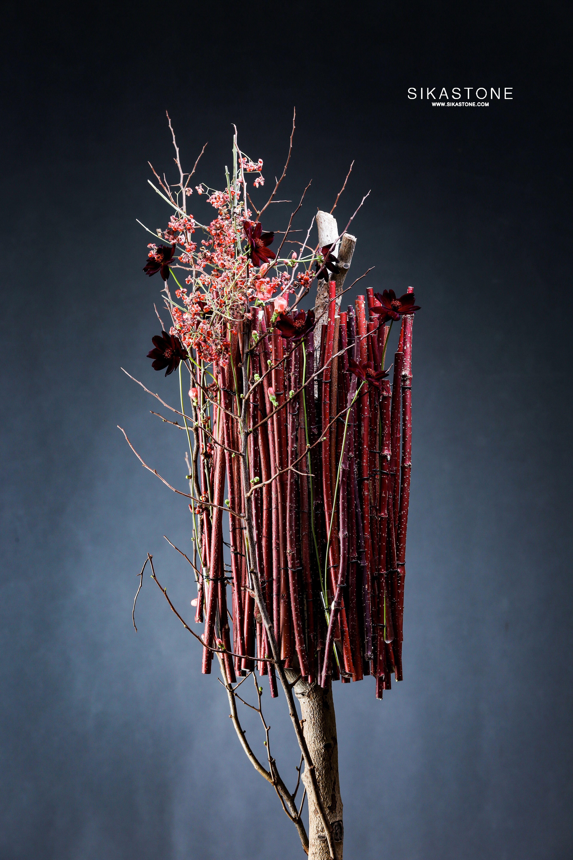 Floral Design From Max Van De Sluis Sikastone Bloemstukken Bloemsierkunst Hout
