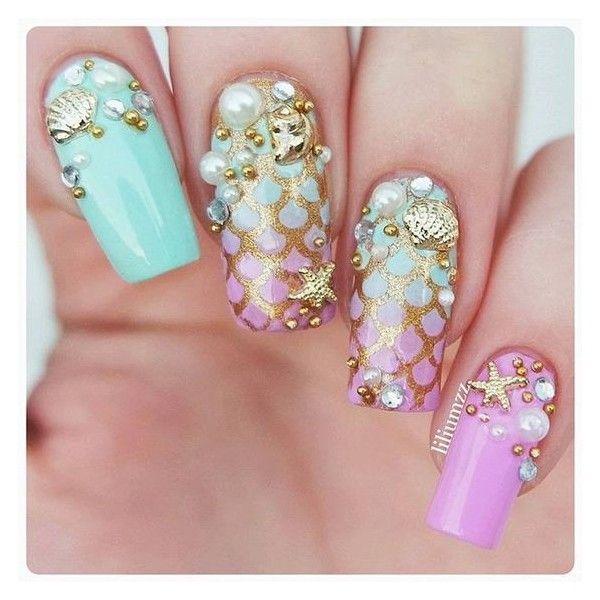 Mermaid Nails | nail art | Pinterest | Mermaid nails, Mermaid and Makeup