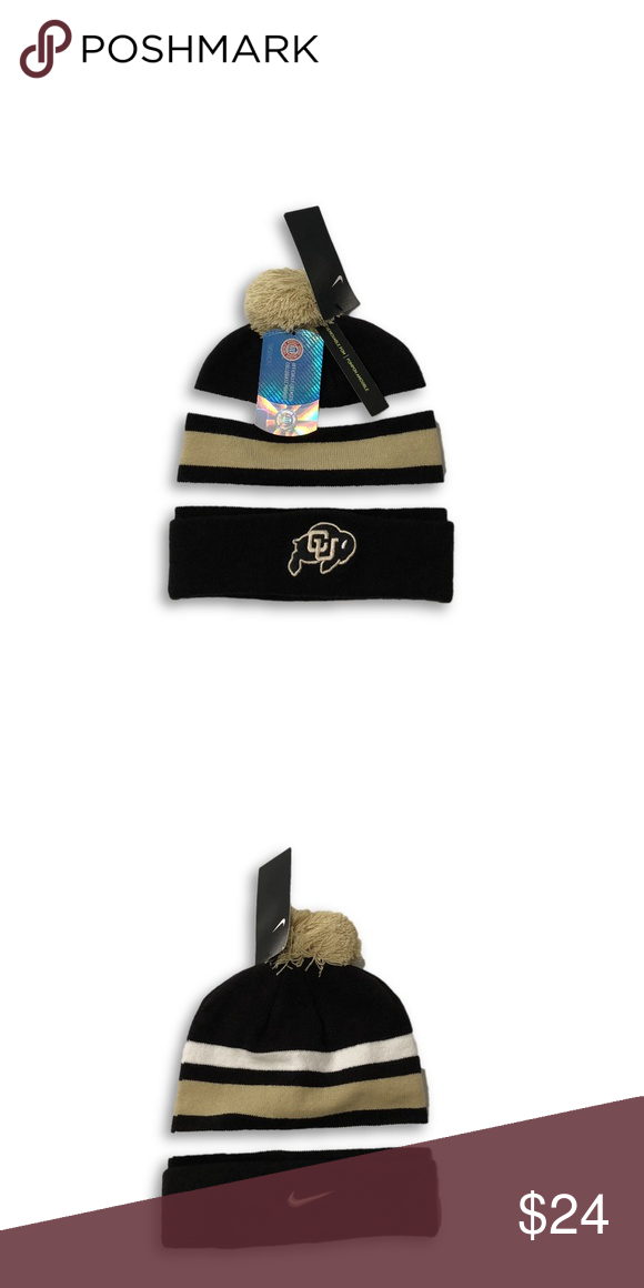 ef30bbdc75a Colorado Buffaloes Nike Sideline Pom Beanie Hat Colorado Buffales Nike  Sideline Logo Pom Knit Beanie Cap. Save money by bundling with other items  in my ...
