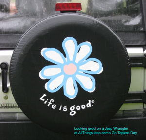 Life Is Good Daisy Tire Cover Jeep Wrangler Girly Jeep Tire