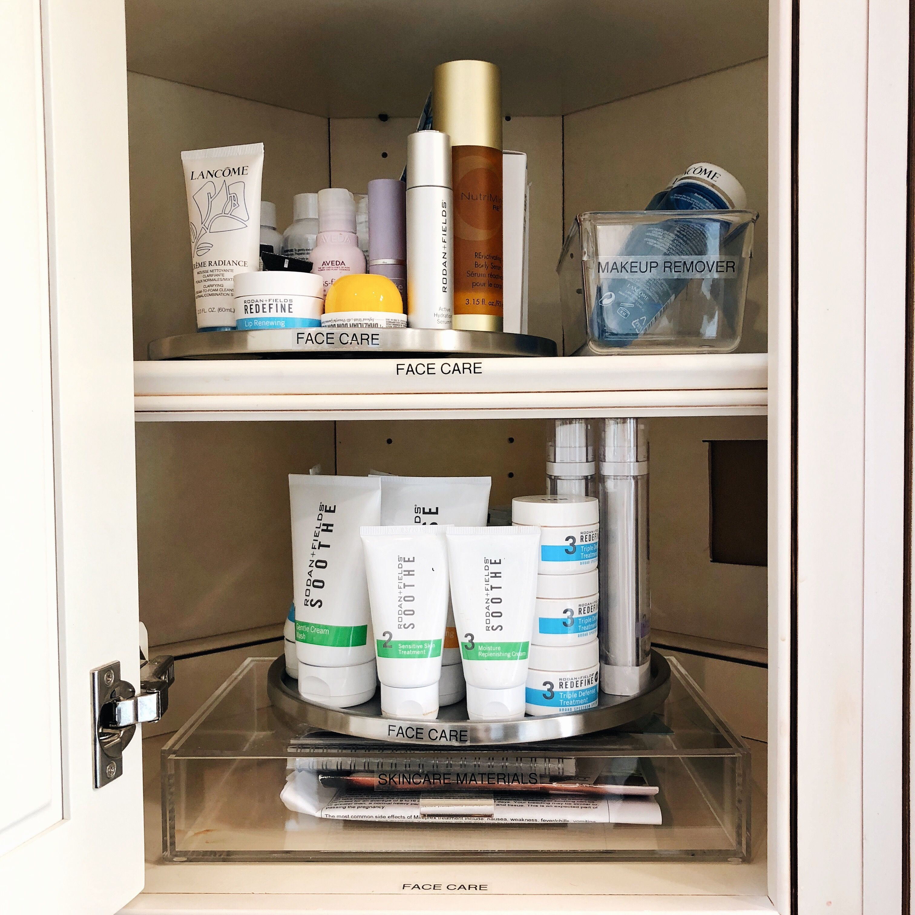 Turntables Are Always One Of Our Go To Products When It Comes To Corner Cabinets And When An Acrylic Drawer Acrylic Drawers Bathroom Medicine Cabinet Cabinet