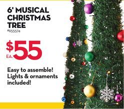 6' Musical Christmas Tree from Giant Tiger $55.00