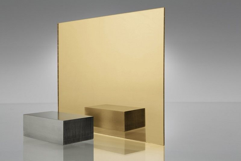 Gold Mirror Effect Acrylic Extruded Sheets 3mm Sheet Size 600 X 400mm Sheets Are A Clear Plastic With High Q Perspex Sheet Acrylic Mirror Plexiglass Sheets
