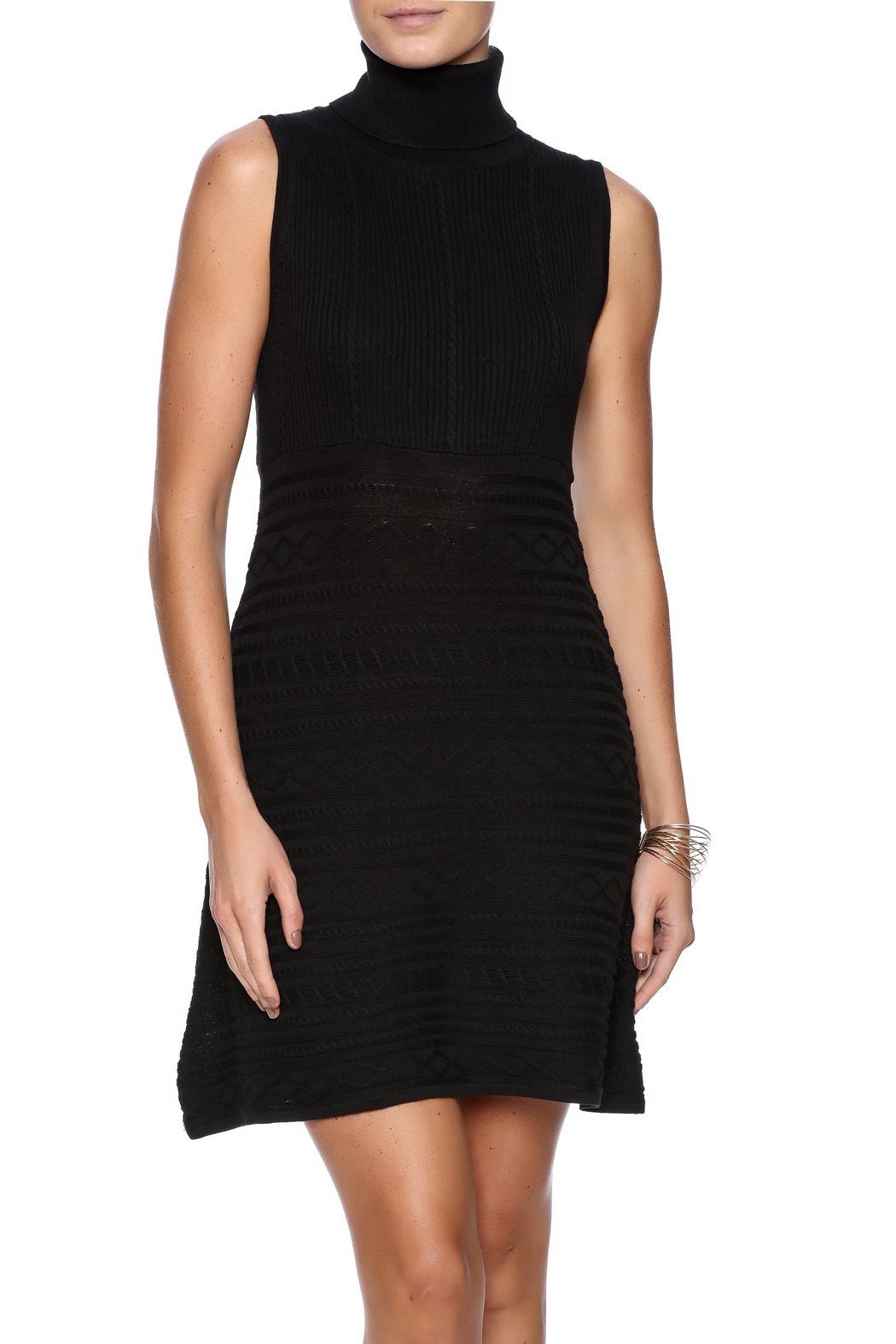 df9108a2f9f3ec Sleeveless turtleneck knit dress with a fit and flare cut. Sweater Knit  Dress by Julie Brown NYC. Clothing - Dresses - Sweater Clothing - Dresses -  LBD ...