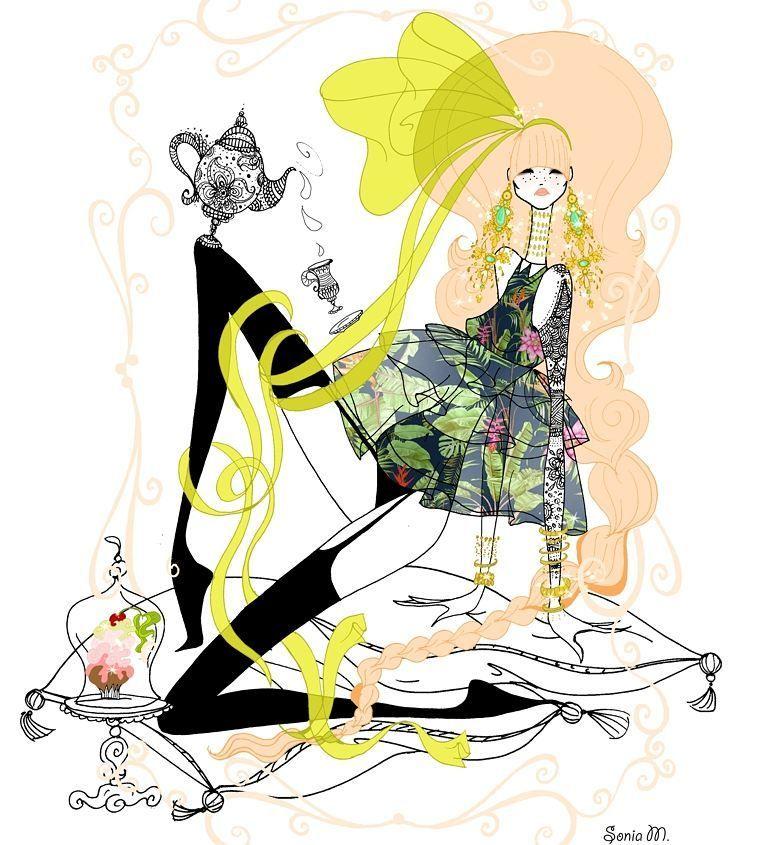 ⚫⚫.... . . . . . #soniamenti #illustration #illustrator #fashion #fashionillustration #fashionart #fashiondrawing #drawing #artistic #artwork #style #pink #pinkhair #bighair #bigbow #floral #teapot #teaparty #instaart #instagood #mood #muffins #cupcakes #bohochic #bohostyle #bohemian #glamour #feminine #jewelry