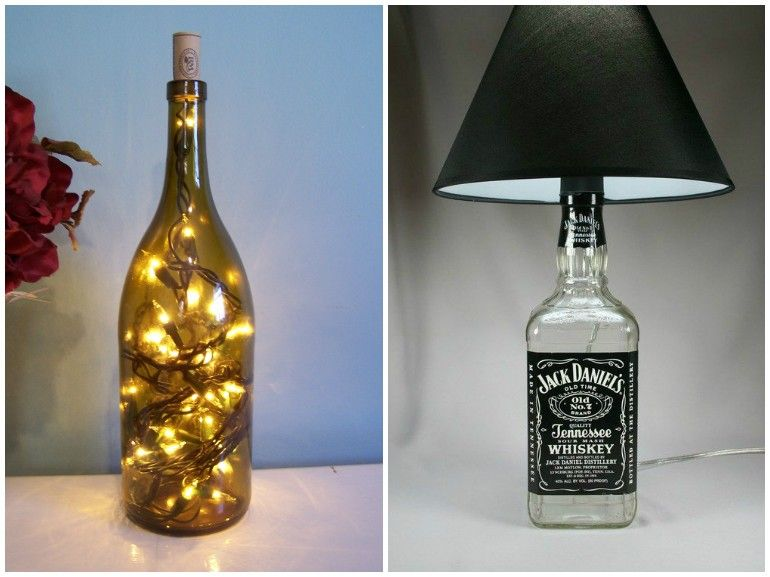 DIY Bottle Lamp Make A Table With Recycled Bottles