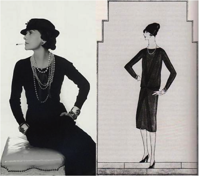Art Deco Fashion Coco Chanel 39 S Classic Lbd The Ford Model First Introduced By Vogue In