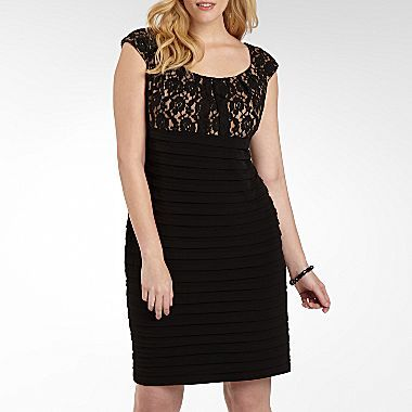 London Times Lace Shutterpleat Dress-Plus Sizes - jcpenney ...