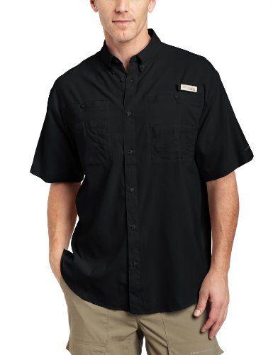 0b409c1ab3b Columbia Men's Tamiami II Short Sleeve Fishing Shirt (Black, Large ...