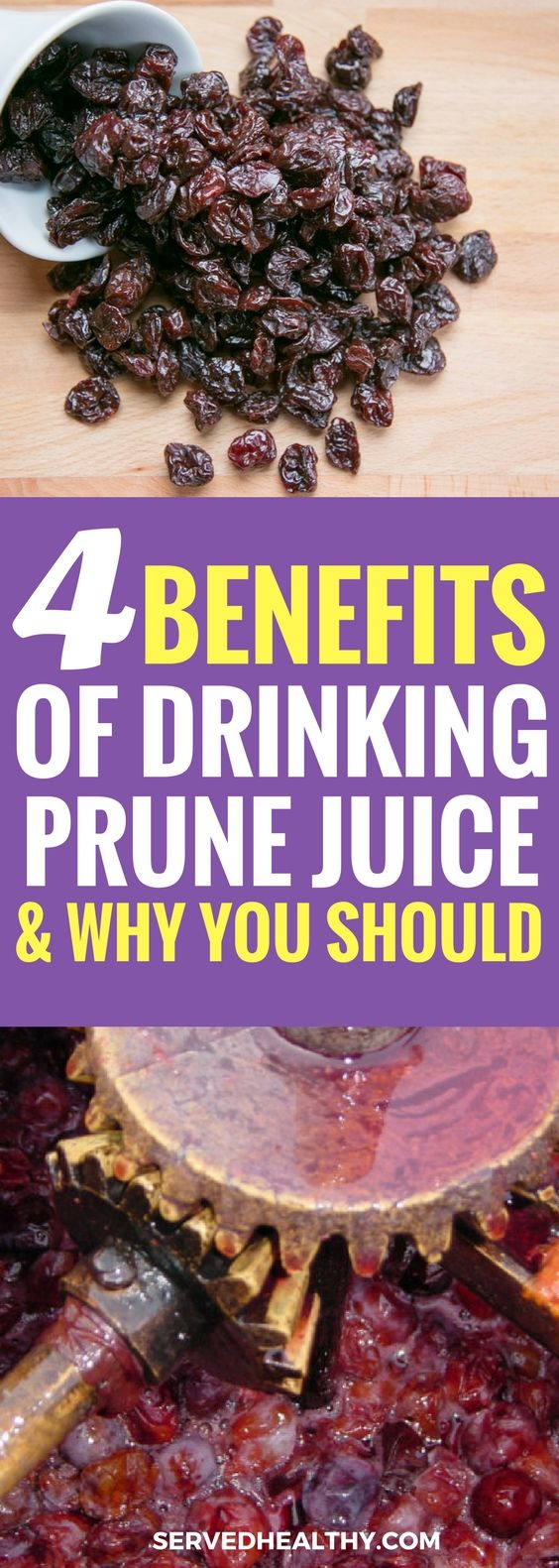 4 Incredible Benefits Of Prune Juice And Why You Should Be Drinking It Today Served Healthy Prunes Benefits Prunes Juice Green Drink Recipes