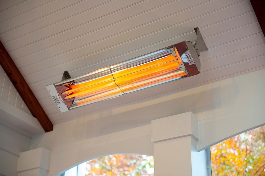 Maryland Patio With Ceiling Mounted WD Series Heaters. Photo Via Design  Builders.