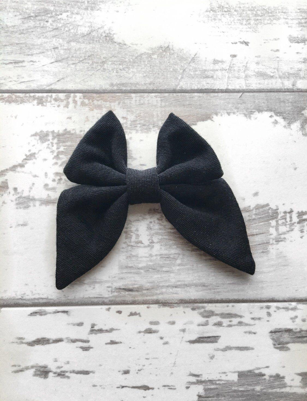 Jet Black Madeline Bow
