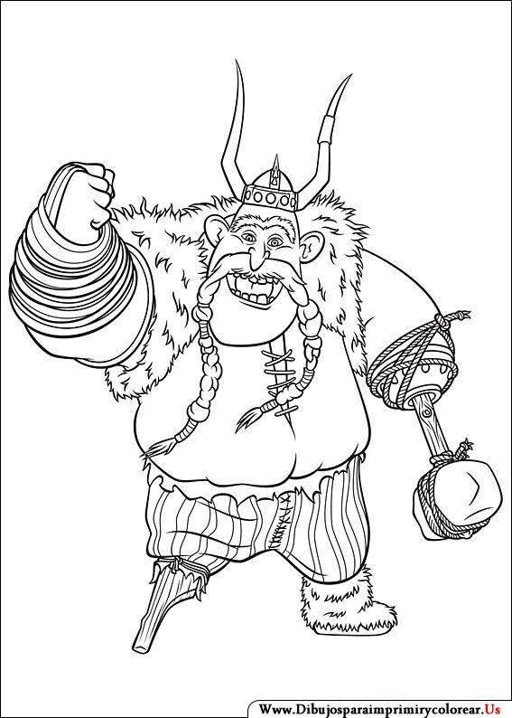 Dibujos de Cómo entrenar a tu Dragón para Imprimir y Colorear | Book ...