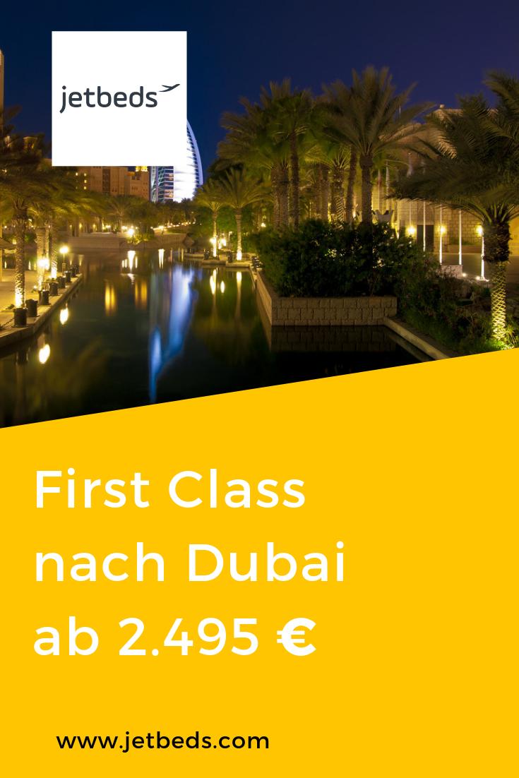 SWISS First Class nach Dubai ab 2.495 €! Abflug ab Paris