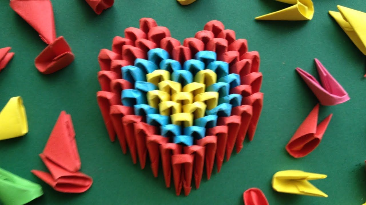 Diy origami heart easy gift ideas for mothers day father