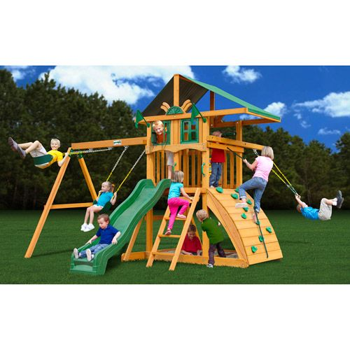 Wooden Playsets On Clearance Gorilla Wooden Swing Set Playsets