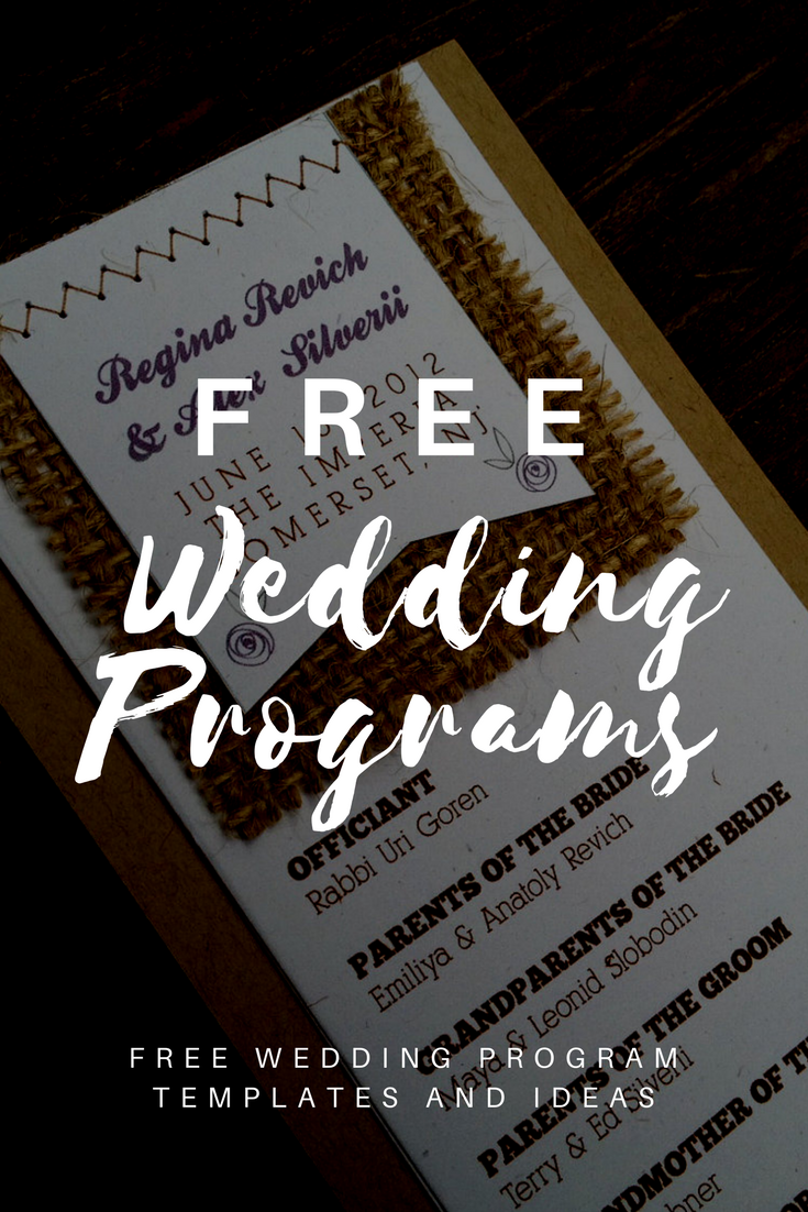 free online printable wedding thank you cards%0A Free Downloadable Wedding Program Templates