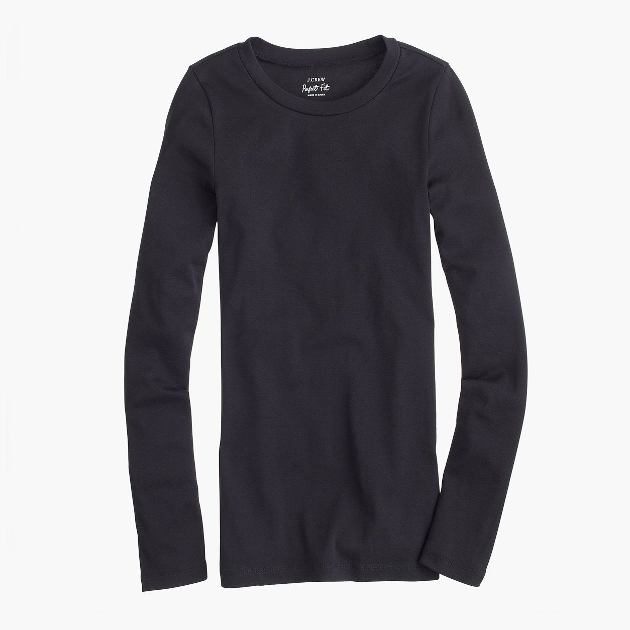J.Crew Womens Petite Perfect-Fit Long-Sleeve T-Shirt (Size XXS Petite)