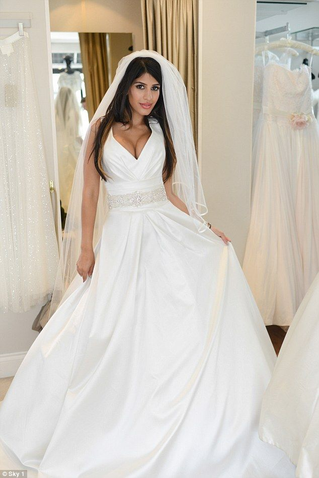 I Just Need A Ring Jasmin Walia Tries On Plunging Wedding Dress