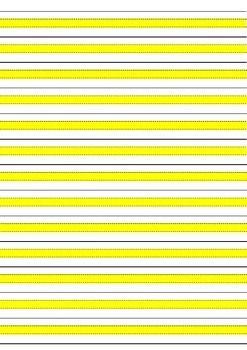 yellow writing paper