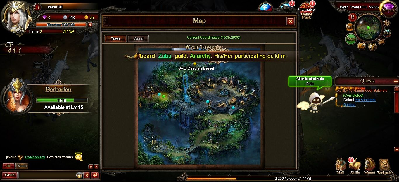 Map of Wyatt Town, screenshoot 3 from Nightgalls game