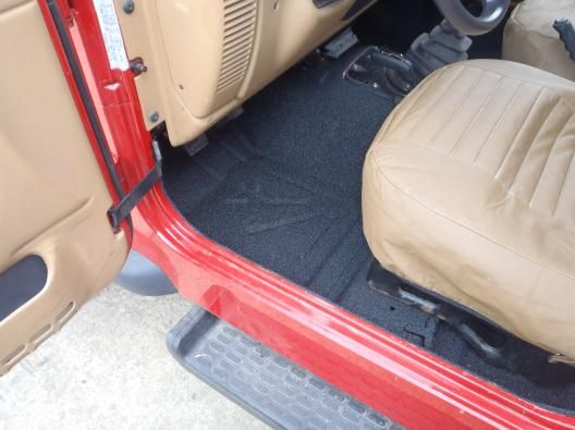 Bed Liner Spray >> Front Of Jeep Interior Sprayed Bed Liner Bed Liner Paint