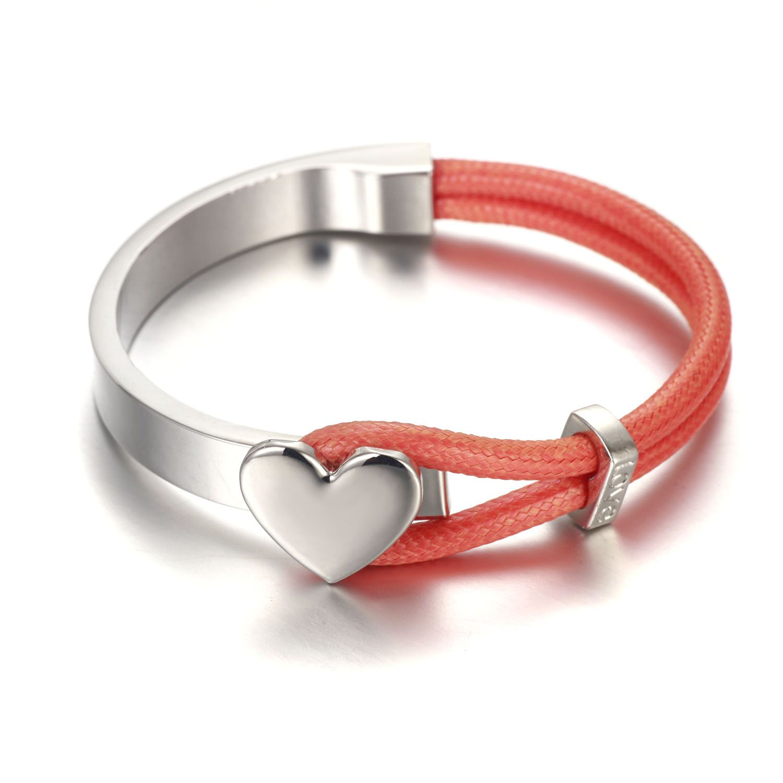 18k gold bracelet red and silver color