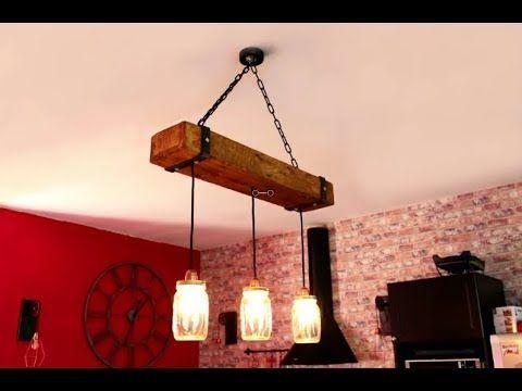 Esstischlampe Lampe Selber Bauen, Machen DIY Anleitung, Designer Treibholz  LED   YouTube