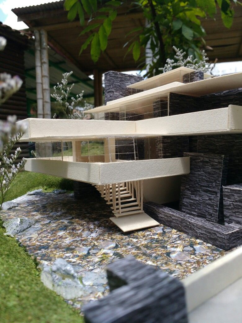 The Falling Water Model Falling Water House Water House Architecture