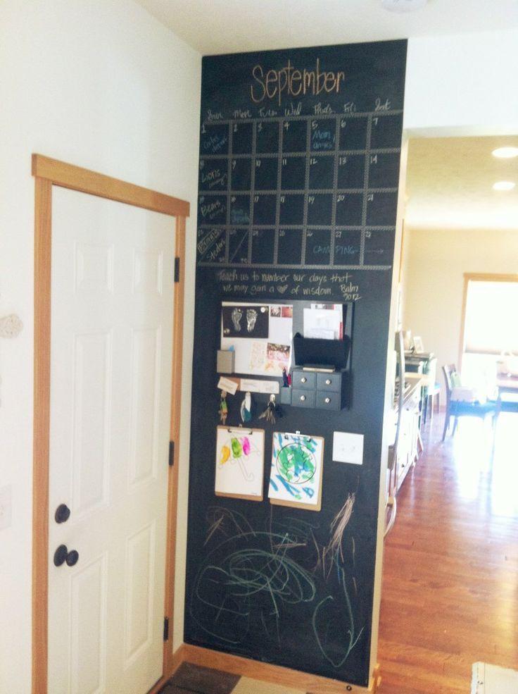 Pared de pizarra o r g a n i z i n g pinterest pared - Pizarra decoracion pared ...