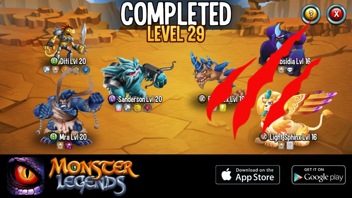 I won a reward at Monster Legends! Want to join? Start