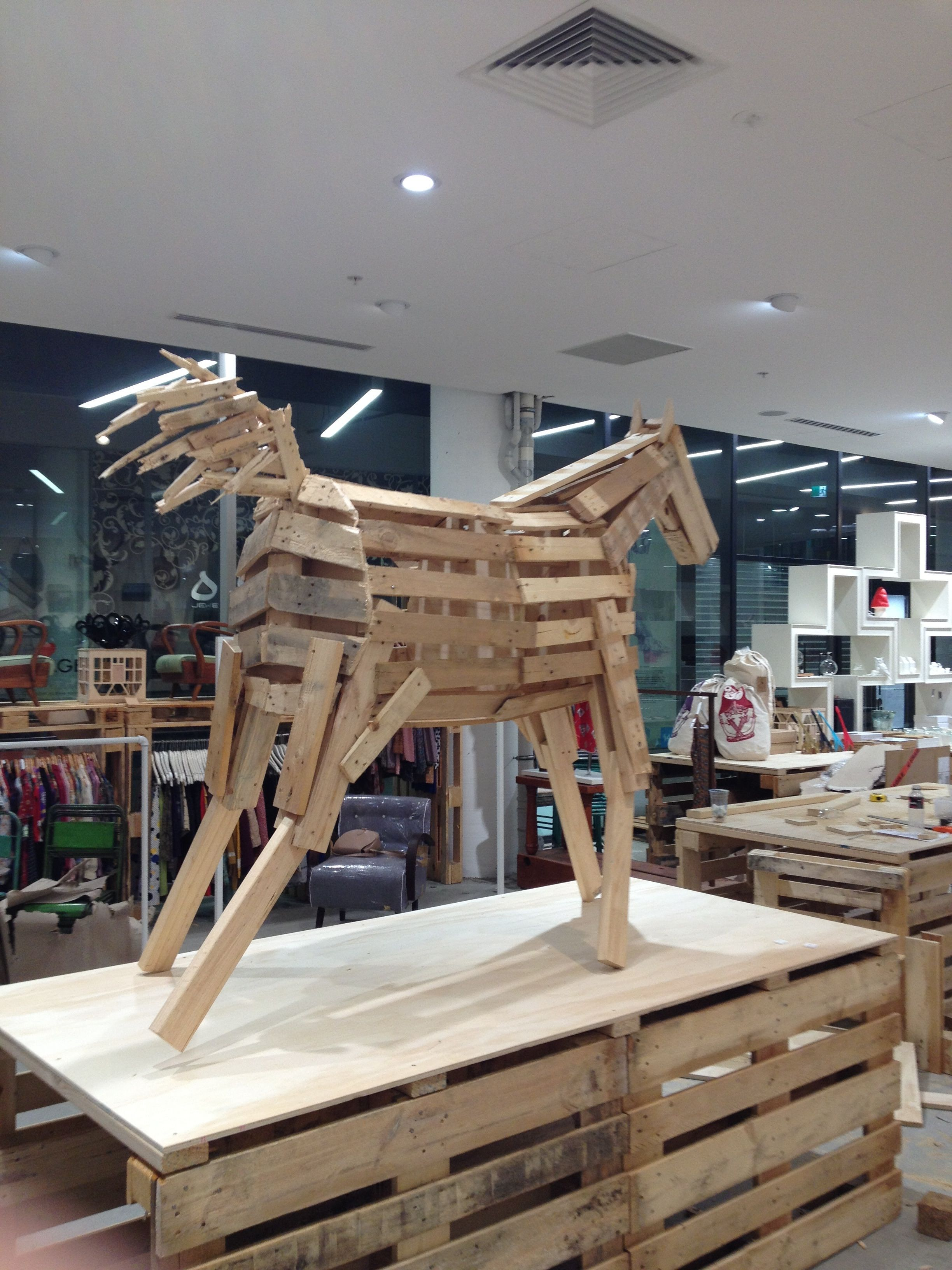 A Wooden Horse Made Of Pallets By Cam Campbell Www Camc Net Au