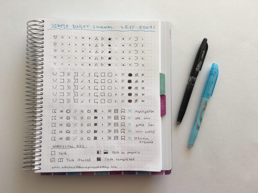 Using a planner key and symbols to code your planner (efficient ...