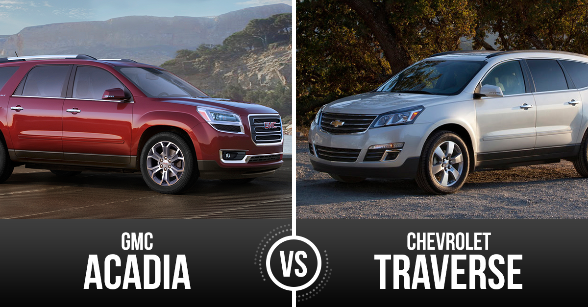Feud For Top Full Sized Suv Finally Answered Chevrolet Traverse Vs Gmc Acadia Chevrolet Traverse Chevrolet Suv