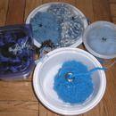 Recycled Container Portable Yarn Holders - Sewuseful #diyyarnholder