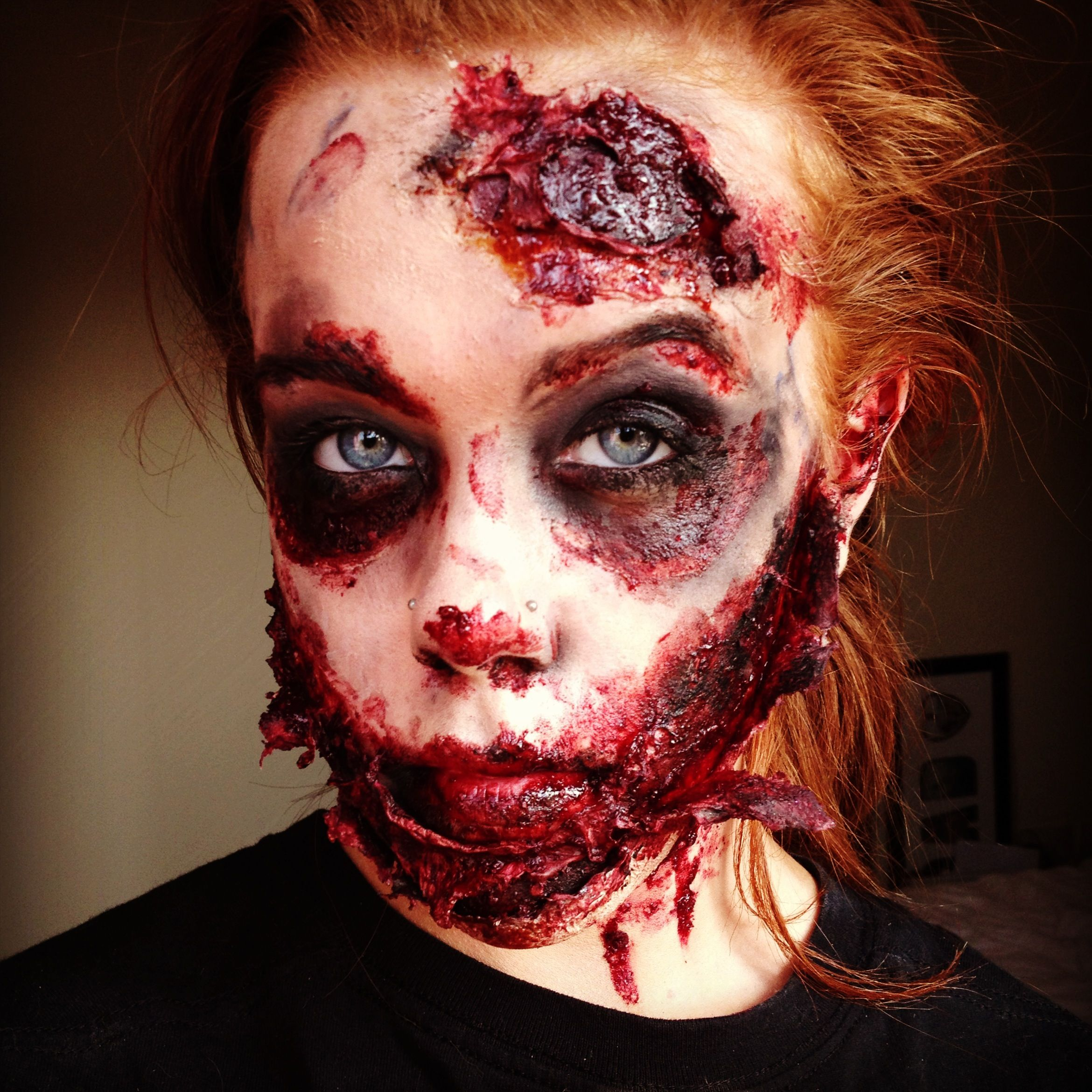 more fresh gory bloody zombie look. | makeup - general, airbrush