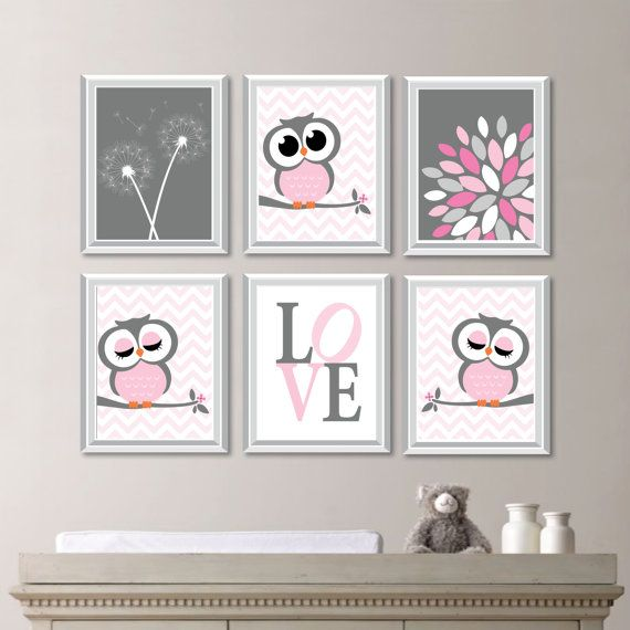 Baby Nursery Art Decor Owl
