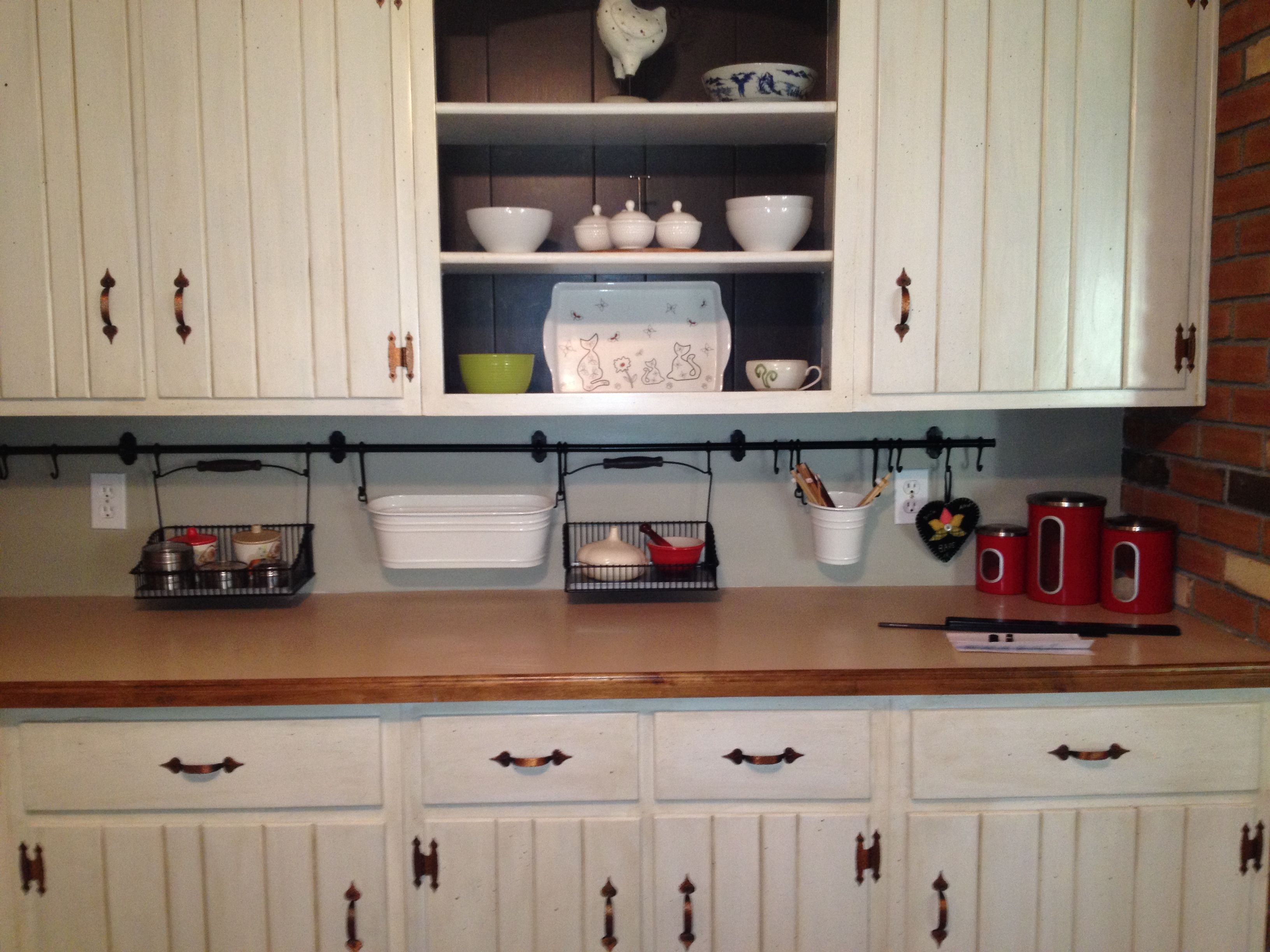 Kitchen Rail System Cabinets Greenville Sc Ikea For Storage Diy Yes I Can Rails Ideas