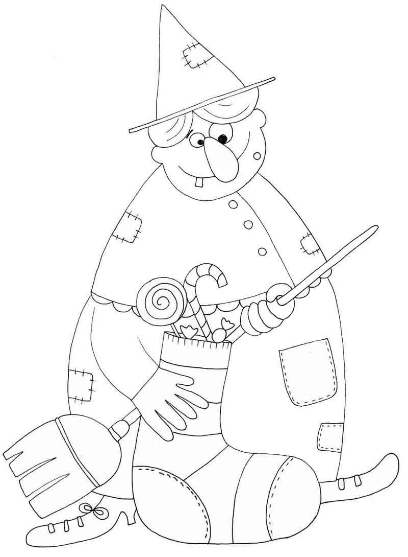 Befana coloring page | Befana - Ricomunica Lab | Pinterest | Cas