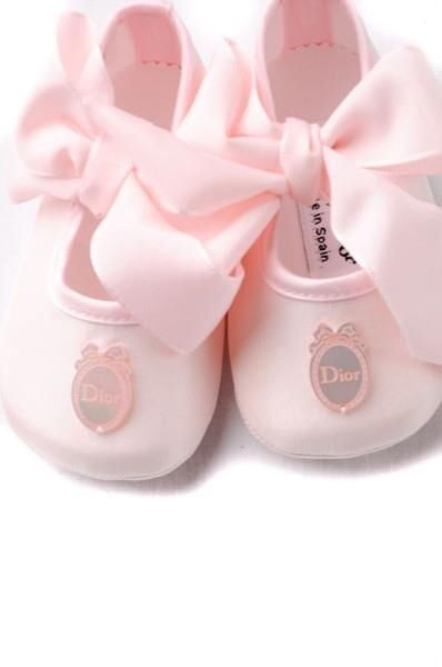 Baby dior, Baby girl shoes, Pink girl
