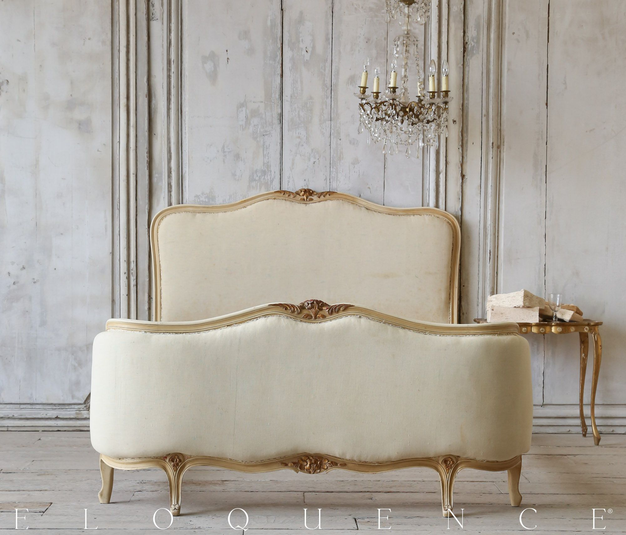 Beautiful Antique Louis XV Style Bed, Circa 1910 ELOQUENCE