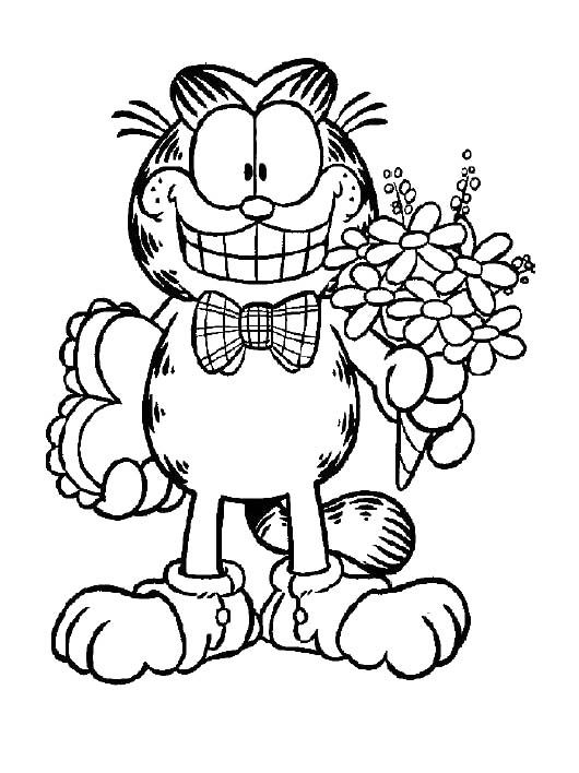 Cute Garfield To Go Party Coloring Pages   color page   Pinterest ...